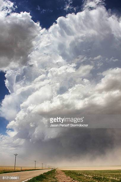 A massive supercell sucks up intense dust into the updraft leading to a violent dust storm, Sheridan Lake, Colorado, USA