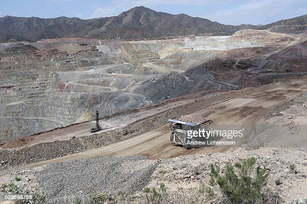 A massive truck hals crushed rock through the Ray Mine The small mining communities of Kearny and Hayden Arizona are in the heart of the Copper Basin...