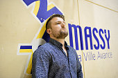 Massy coach Benjamin Braux during the French Pro D2 playoff semi final first leg match between Massy Essonne and Selestat Alsace at the Centre...