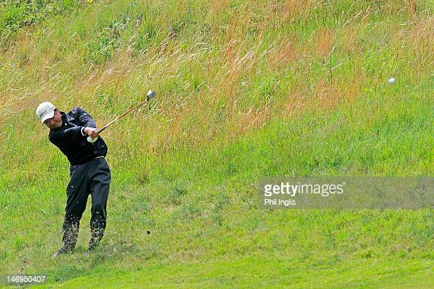 Massy Kuramoto of Japan in action during the final round of the Van Lanschot Senior Open played at Royal Haagsche Golf and Country Club on June 24...