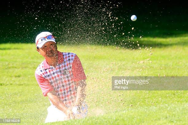 Massy Kuramoto of Japan in action during the first round of the Berenberg Bank Masters played at Golf Und LandClub Koln on August 2 2013 in Cologne...