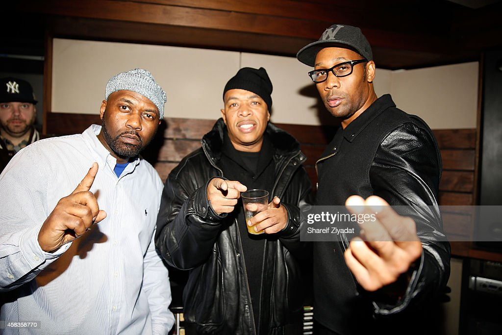 Masta Killa UGod and Rza attend Wu Tang NYC First Listen on November 3 2014 in New York United States