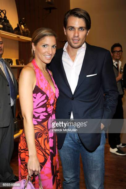 Mastassia Balic and Anthony Toppers attend LONGCHAMP ELLE Present ELDAR Benefitting the KIPTON ART FOUNDATION at Longchamp on September 8 2009 in New...