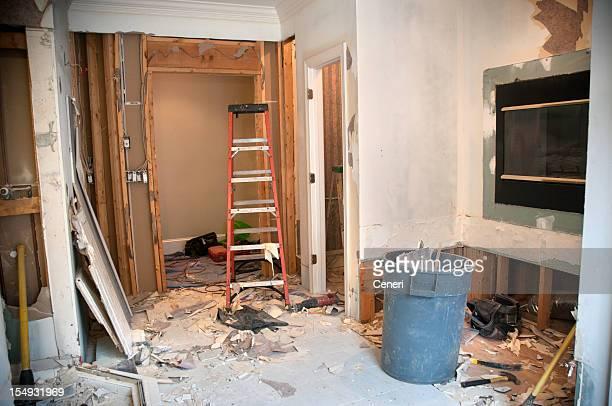マスターバスルームの改装:解体フェーズ