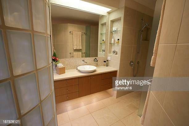Master Bathroom With Tiles & Glass