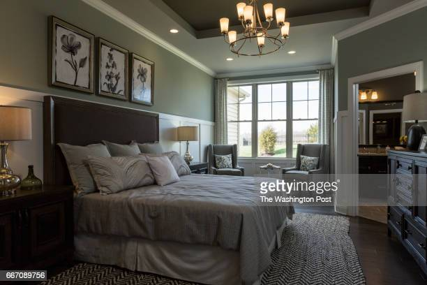 Master Bedroom in the Tradition Model at Regency at Creekside on March 28 2017 in Gainesville Virginia