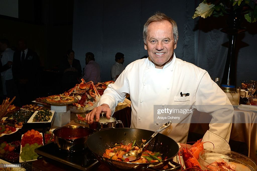 Master chef Wolfgang Puck at the preview of the food and decor of this year's 'Governors Ball', the celebration immediately following the Oscars at The Ray Dolby Ballroom at Hollywood & Highland Center on January 22, 2013 in Hollywood, California.