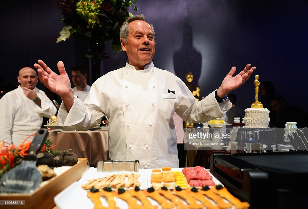 Master chef <a gi-track='captionPersonalityLinkClicked' href=/galleries/search?phrase=Wolfgang+Puck&family=editorial&specificpeople=157523 ng-click='$event.stopPropagation()'>Wolfgang Puck</a> speaks during a preview of the 85th Academy Awards Governors Ball on January 22, 2013 in Hollywood, California. Academy governor Jeffrey Kurland, event producer Cheryl Cecchetto and Puck will return to create this year's Governors Ball, the Academy's official post-Oscar celebration, which will immediately follow the 85th Academy Awards ceremony on Sunday, February 24. The 1,500 guests include Academy Award winners and nominees, show presenters and other telecast participants.
