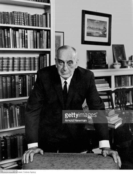Master city planner Robert Moses poses for portrait in his office April 8 1964 in New York City
