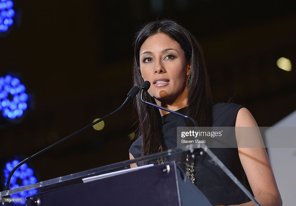Master of Ceremonies Liz Cho speaks during the Grand Central Terminal 100th Anniversary Celebration at Grand Central Terminal on February 1, 2013 in New York City.