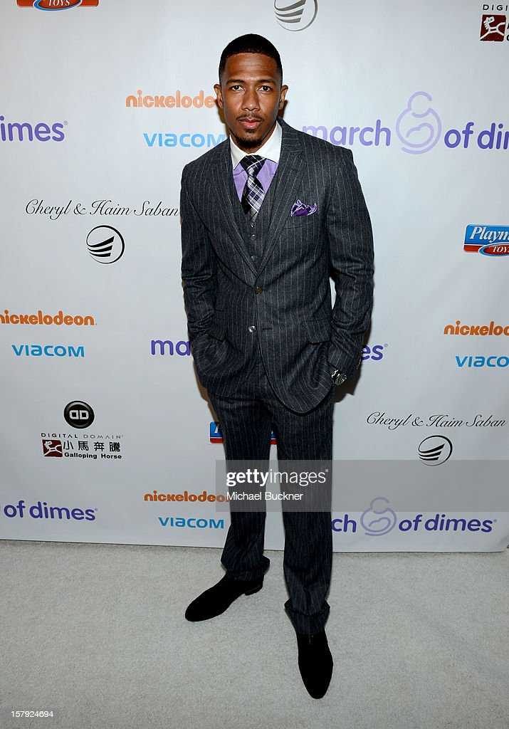 Master of Ceremonies <a gi-track='captionPersonalityLinkClicked' href=/galleries/search?phrase=Nick+Cannon&family=editorial&specificpeople=202208 ng-click='$event.stopPropagation()'>Nick Cannon</a> attends the 7th Annual March of Dimes Celebration of Babies, a Hollywood Luncheon, at the Beverly Hills Hotel on December 7, 2012 in Beverly Hills, California.
