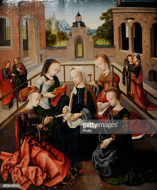 Master of the Virgo inter Virgines The Virgin and Child with Four Holy Virgins c 14951500 Rijksmuseum Amsterdam Holland