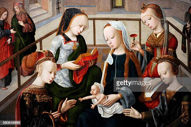 Master of the Virgo inter Virgines The Virgin and Child with Four Holy Virgins c 14951500 Detail Rijksmuseum Amsterdam Holland