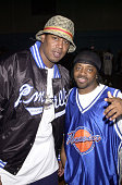 Master P and Jermaine Dupri during Super Bowl XXXVI Jam Sports All Star Celebrity Basketball Game Hosted by Jermaine Dupri at University of New...