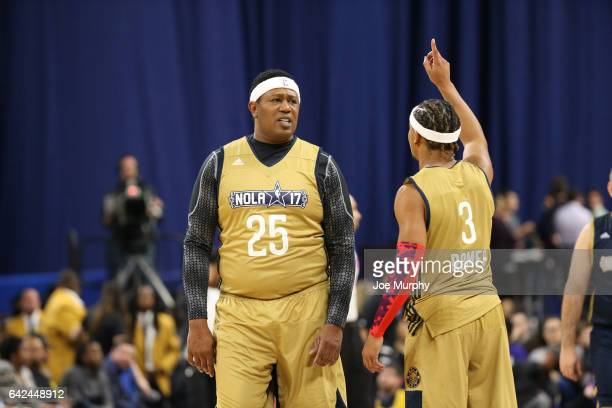Master P and Romeo Miller of the West Team play during the NBA AllStar Celebrity Game as a part of 2017 AllStar Weekend at the MercedesBenz Superdome...