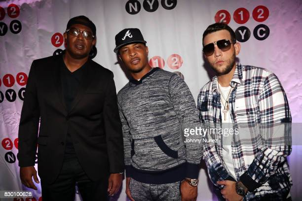 Master P TI and Messiah El Artista attend the 9th Annual 212NYC Summer Party at Pier 16 on August 10 2017 in New York City