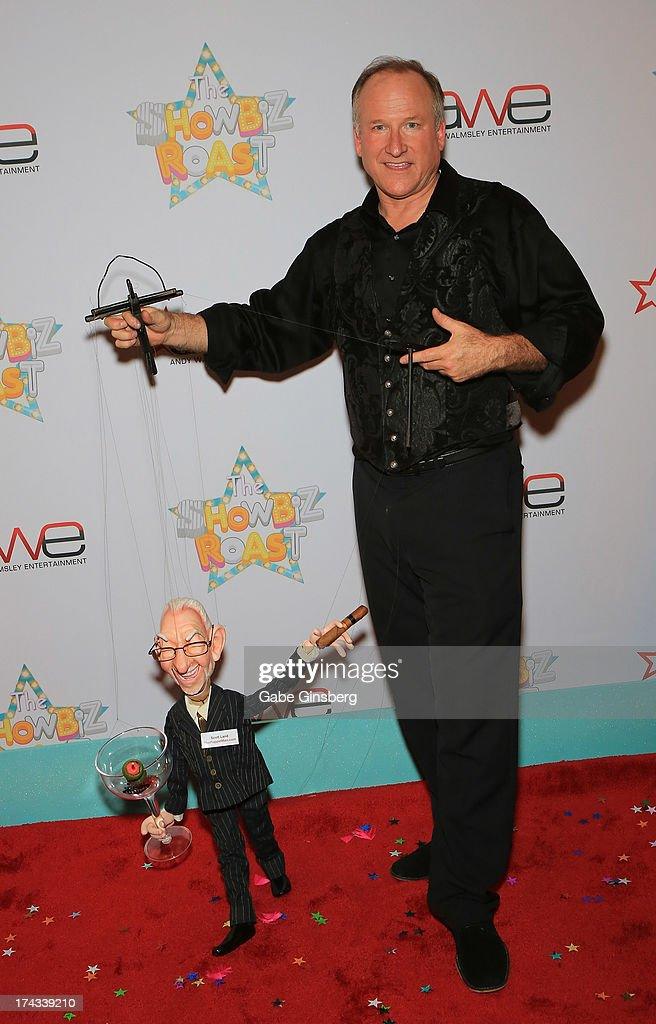 Master puppeteer Scott Land arrives at the 'Showbiz Roast of Oscar Goodman' at the Stratosphere Casino Hotel on July 23, 2013 in Las Vegas, Nevada.