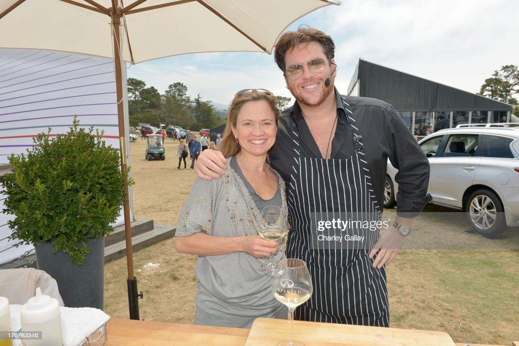Master sommelier Andrea Robinson (L) and chef Scott Conant attend day 4 of Moments of Inspiration presented by Infiniti in partnership with Hearst Magazines on August 18, 2013 in Pebble Beach, California.