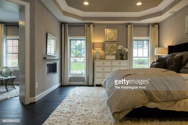 Master Suite in the Cannon model at Potomac Highlands on August 17 2017 in Potomac Maryland