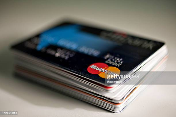 A MasterCard debit card is displayed for a photograph in New York US on Tuesday May 18 2010 Creditcard firms caught offguard by US Senate passage of...