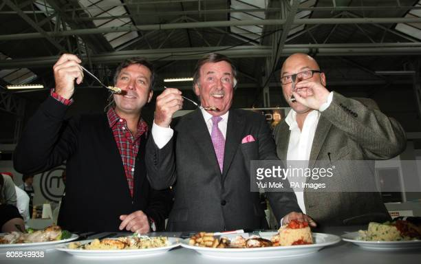 MasterChef judges John Torode and Gregg Wallace with guest Sir Terry Wogan at the Invention Test where 30 contestants have just 30 minutes to produce...