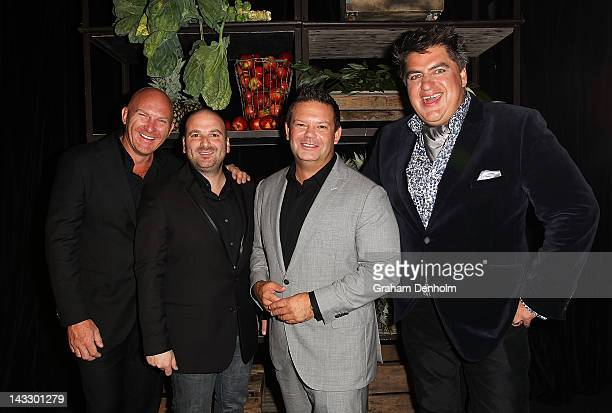 Masterchef judges Matt Moran George Calombaris Gary Mehigan and Matt Preston attend the Masterchef Australia Network Ten launch party launching the...