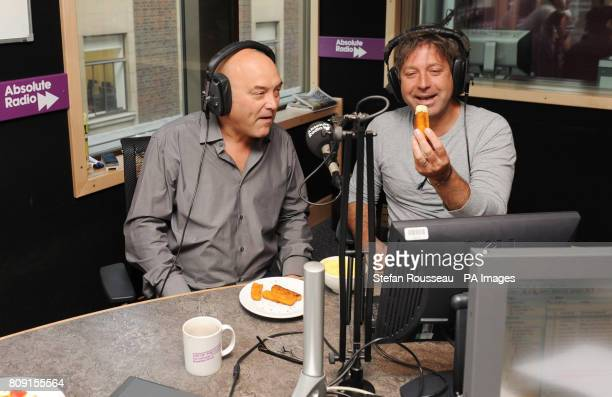 MasterChef presenters Gregg Wallace and John Torode appearing on the Absolute Radio breakfast show with Christian O'Connell this morning