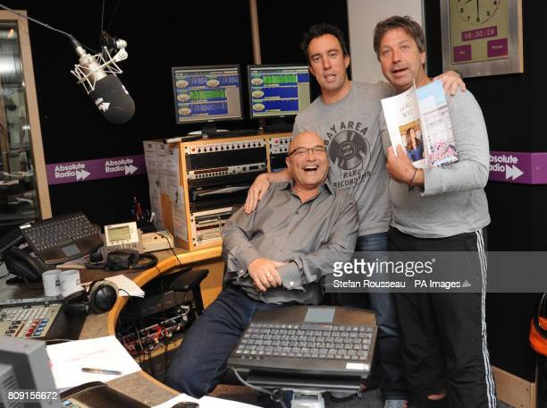 MasterChef presenters Gregg Wallace and John Torode with Absolute Radio breakfast show presenter Christian O'Connell after appearing on his show this...
