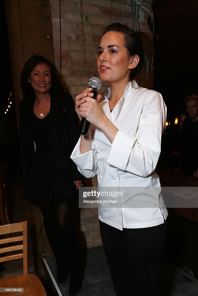Masterchef Whitney Miller speaks onstage during Night 1 of ChefDance on January 18, 2013 in Park City, Utah.