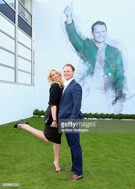 Masters Champion Danny Willett of England and his wife Nicole pose during the BMW PGA Championship Reception prior to the BMW PGA Championship at...