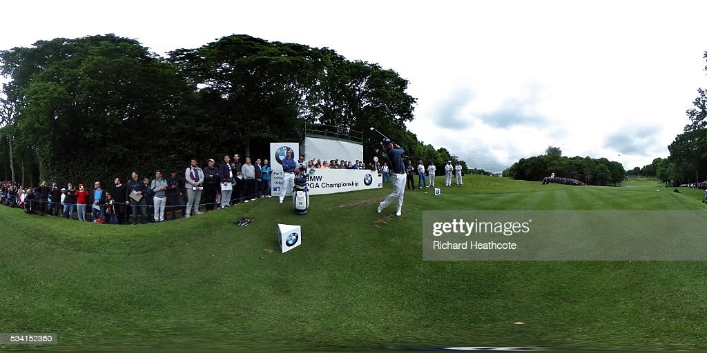 Masters winner <a gi-track='captionPersonalityLinkClicked' href=/galleries/search?phrase=Danny+Willett&family=editorial&specificpeople=4488861 ng-click='$event.stopPropagation()'>Danny Willett</a> in action during the Pro-Am prior to the BMW PGA Championship at Wentworth on May 25, 2016 in Virginia Water, England.