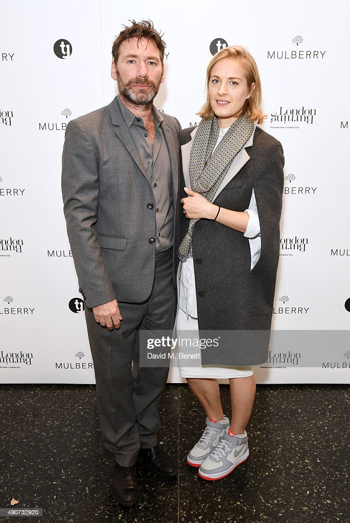 Mat Collishaw and Polly Morgan attend the London Burning Launch Event at The ICA supported by Mulberry at the ICA on September 30 2015 in London...