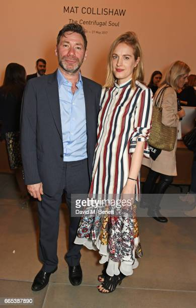 Mat Collishaw and Polly Morgan attend the Private View of 'Centrifugal Soul' by Mat Collishaw at Blain Southern on April 6 2017 in London England
