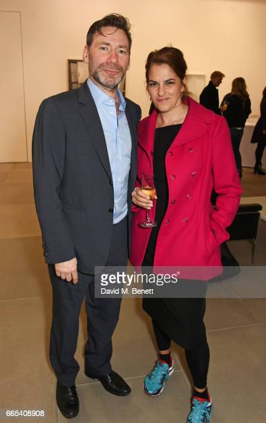 Mat Collishaw and Tracey Emin attend the Private View of 'Centrifugal Soul' by Mat Collishaw at Blain Southern on April 6 2017 in London England