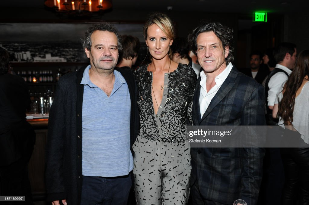 Mat Collishaw, Lady <a gi-track='captionPersonalityLinkClicked' href=/galleries/search?phrase=Victoria+Hervey&family=editorial&specificpeople=208911 ng-click='$event.stopPropagation()'>Victoria Hervey</a> and Stephen Webster attend The 'Last Supper' Discussion hosted By Stephen Webster At Soho House at Soho House on November 8, 2013 in West Hollywood, California.