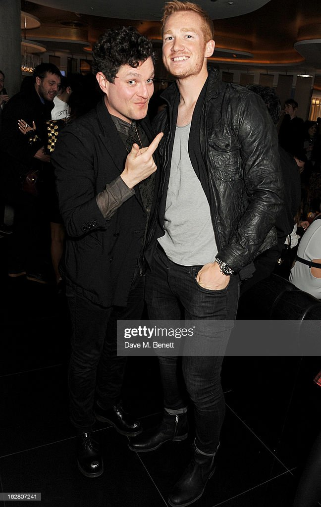 Mat Horne and Greg Rutherford party in Wyld at W London Leicester Square after the NME Awards whilst drinking 'CIROC 'n' Roll' cocktails on February...