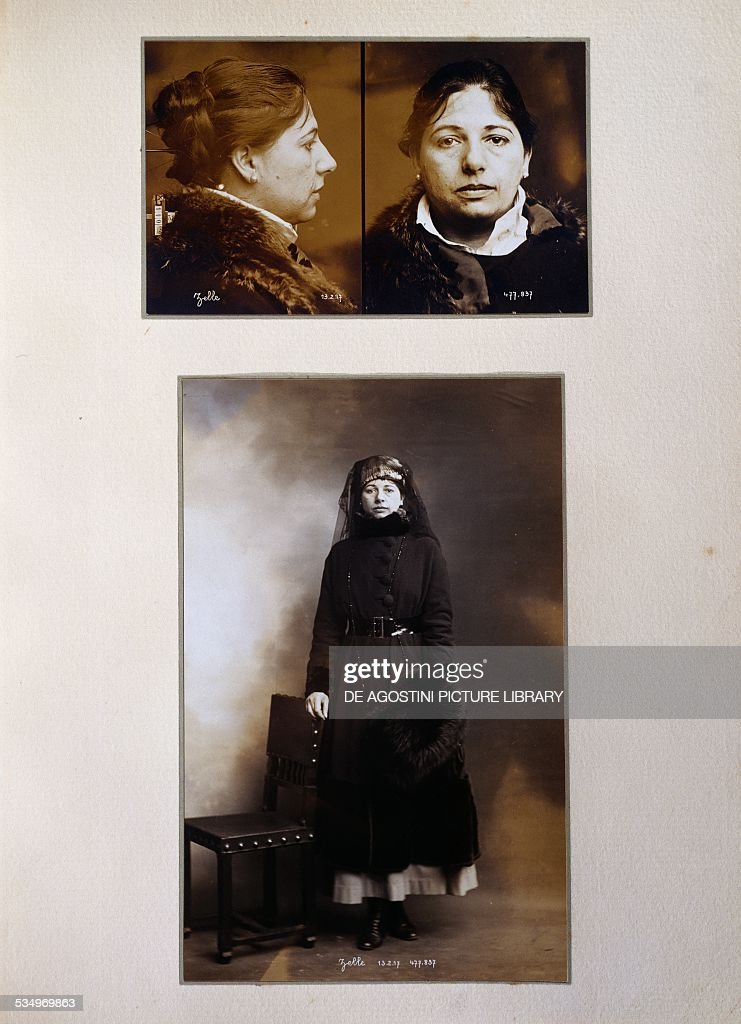Mata Hari photograph taken at the time of her arrest on February 13 1917 France 20th century