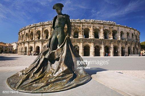 Matador Statue Outside Arena of Nimes