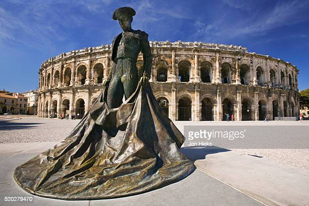 Matador Statue Outside Arena of Nimes