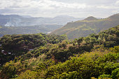 Looking over the hills to the west of Matagalpa, in northeastern Nicaragua.