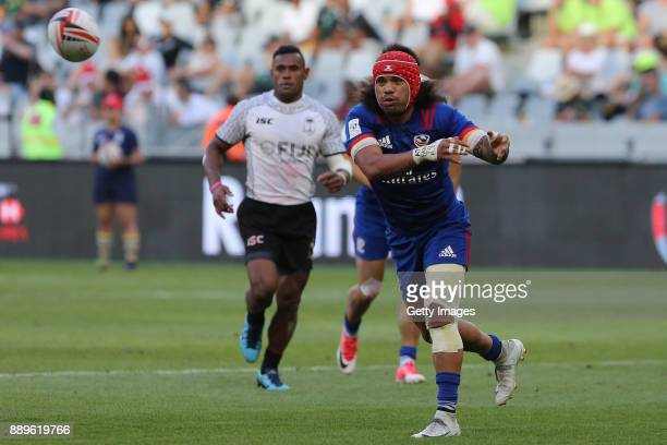 Matai Leuta of the USA during day 2 of the 2017 HSBC Cape Town Sevens at Cape Town Stadium on December 10 2017 in Cape Town South Africa