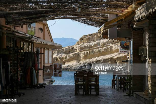 Matala a little fishing village in Southern Crete Matala is famous for the hippies that occupied the area and lived in ancient caves in the 60s...
