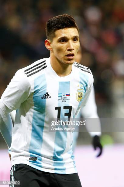 Matías Kranevitter of Argentina in action during the international friendly match between Russia and Argentina at BSA OC 'Luzhniki' Stadium in Moscow...