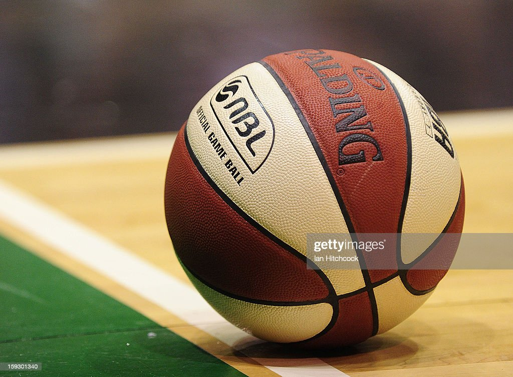 A match ball is seen during the round 14 NBL match between the TOwnsville Crocodiles and the New Zealand Breakers at Townsville Entertainment Centre on January 11, 2013 in Townsville, Australia.