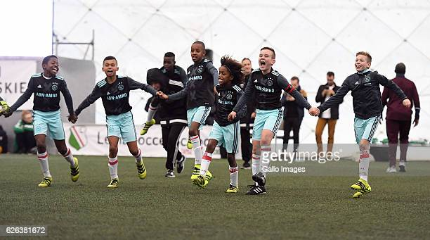 Match between Ajax Amsterdam and RSC Anderlecht Brussels during the Legia Cup 2016 match on November 27 2016 in Warsaw Poland Legia Cup is a...