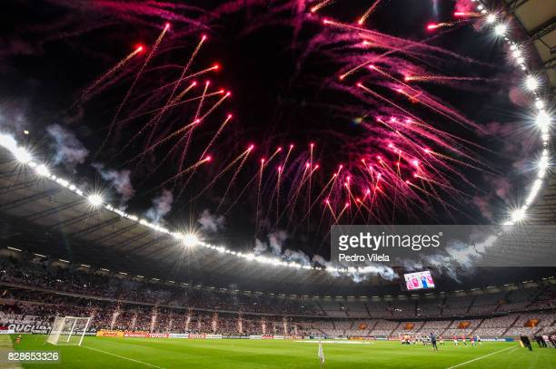 Match between Atletico MG and Jorge Wilstermann as part of Copa Bridgestone Libertadores 2017 at Mineirao Stadium on August 9 2017 in Belo Horizonte...