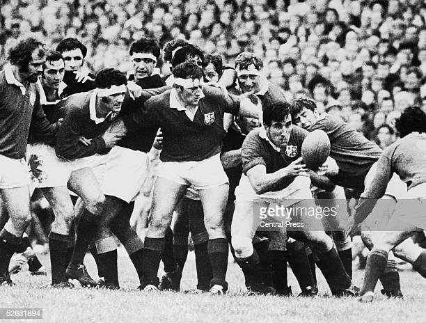 A match between the British Lions and Wellington at Wellington 10th June 1971 The Lions won 479 From left to right John Taylor Andy Leslie D Waller...