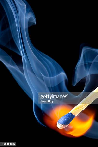 Match Bursts into Smoke and Flame