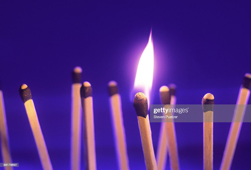 Match in fire : Stock Photo