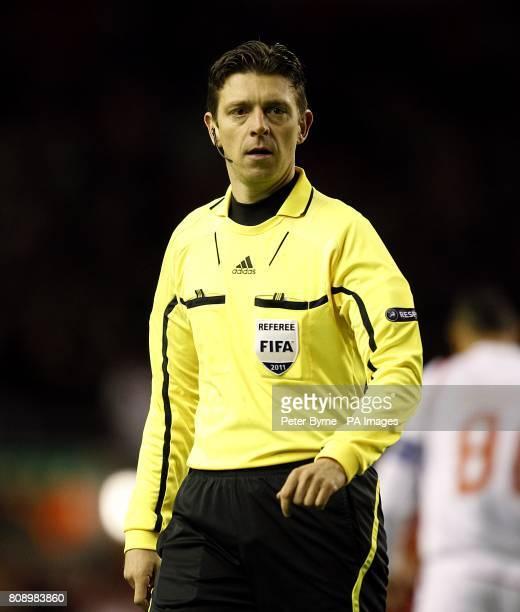 Match referee Gianluca Rocchi